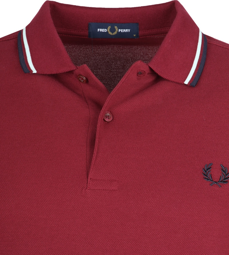 Fred Perry Polo Bordeaux K88 foto 1