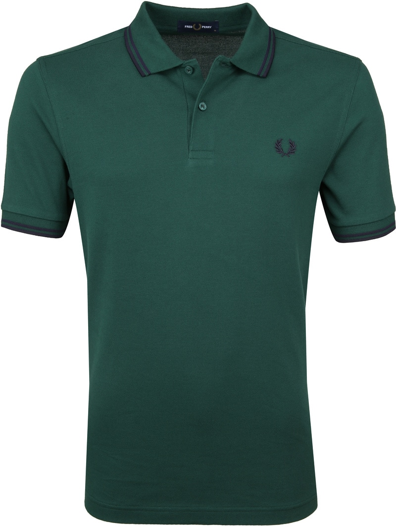 Fred Perry Polo Donkergroen foto 0