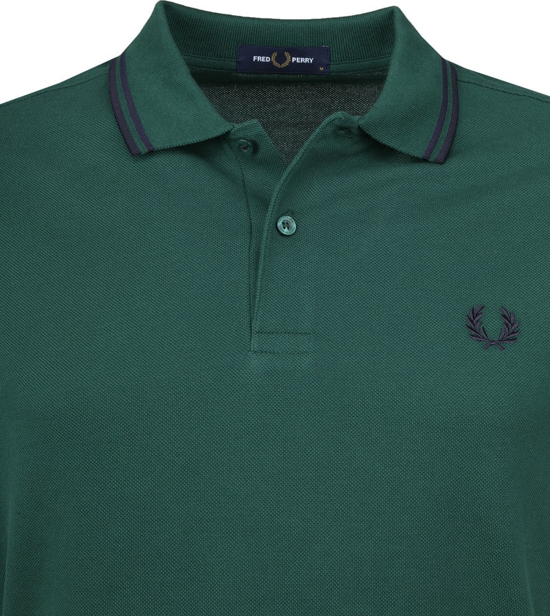 Fred Perry Polo Donkergroen foto 1