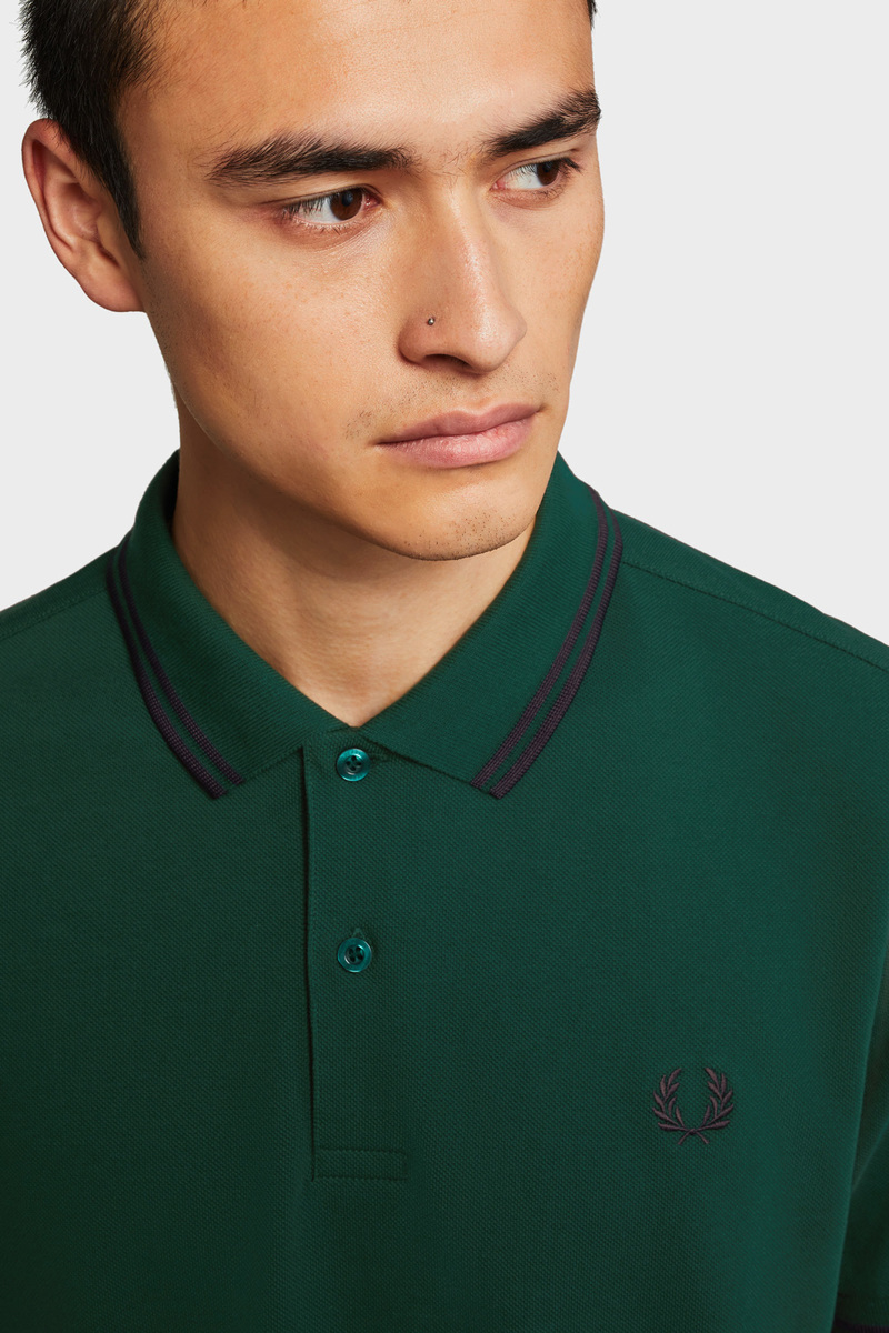 Fred Perry Polo Donkergroen foto 4