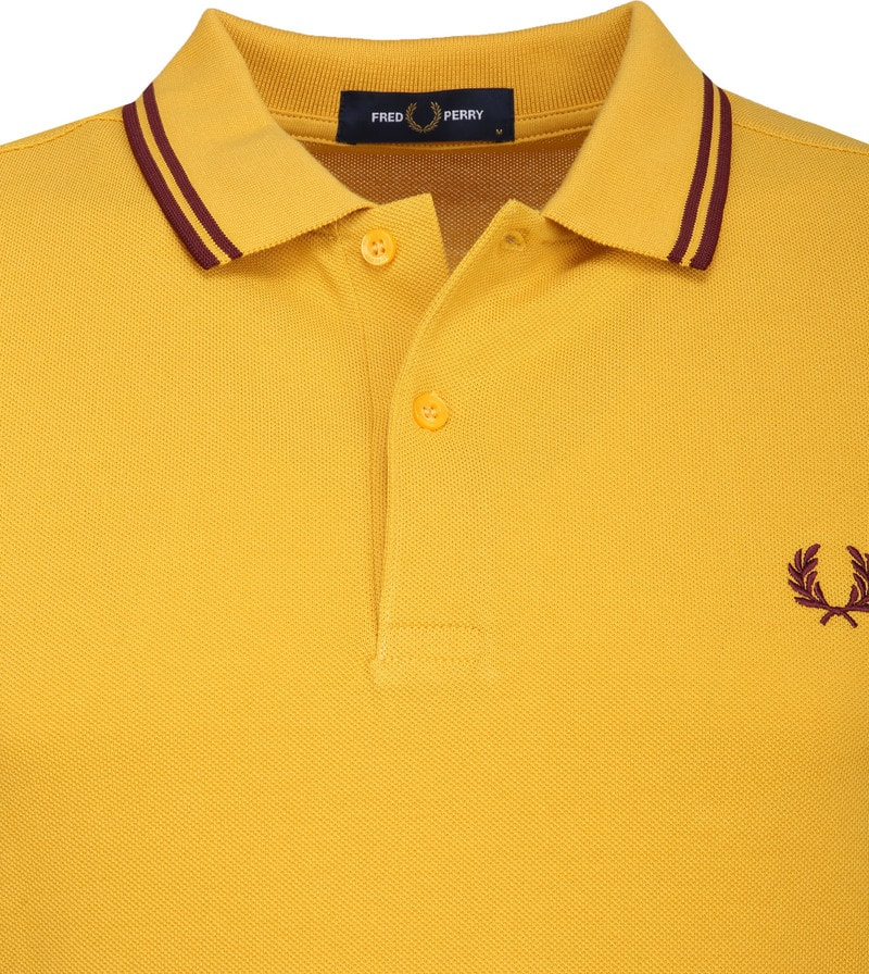 Fred Perry Polo Geel foto 1