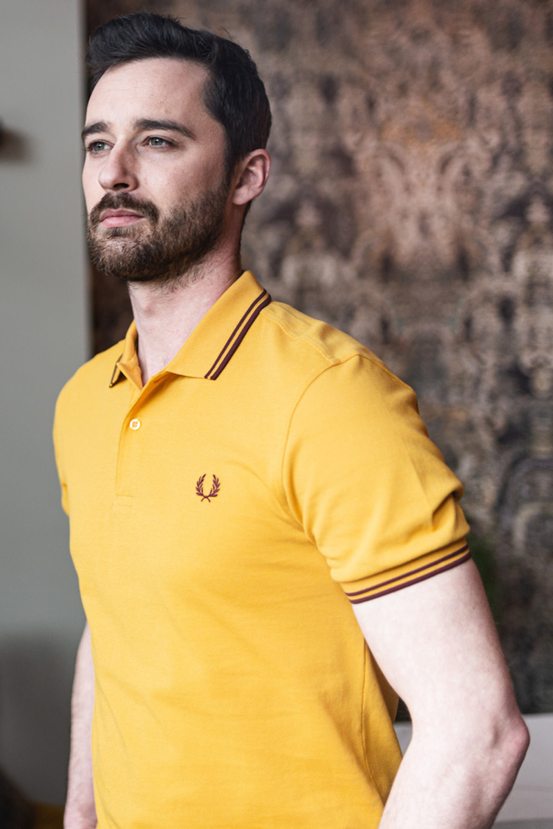 Fred Perry Polo Geel foto 4