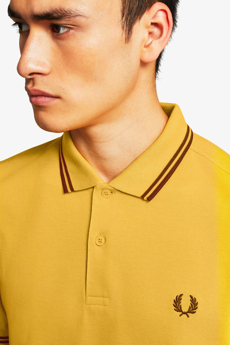 Fred Perry Polo Geel foto 5