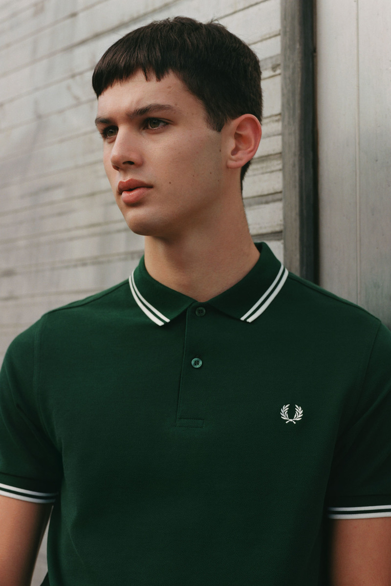 Fred Perry Polo Green 406 photo 3
