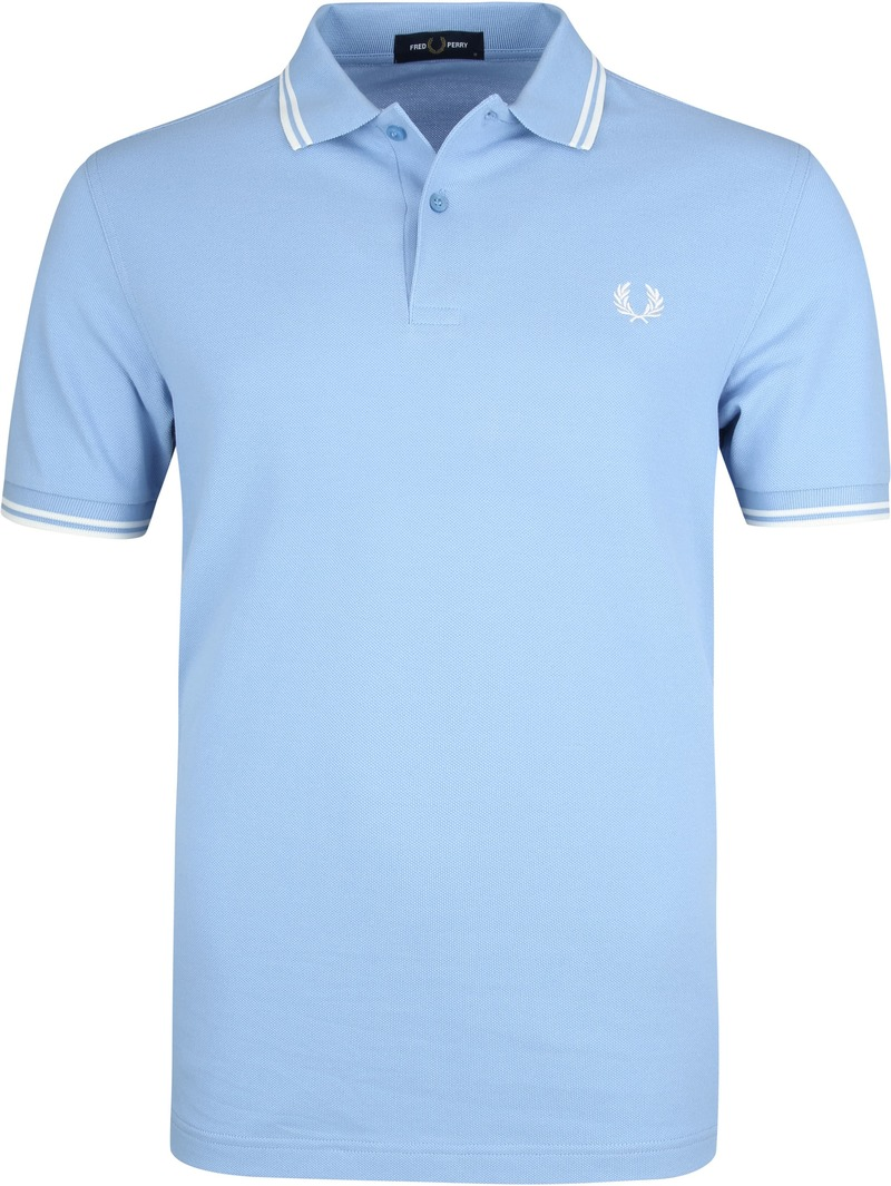 Fred Perry Polo Lichtblauw L15 foto 0