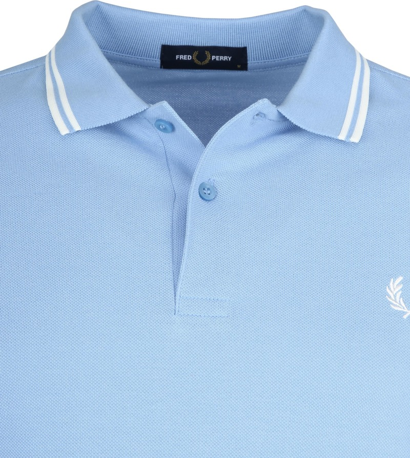 Fred Perry Polo Lichtblauw L15 foto 1