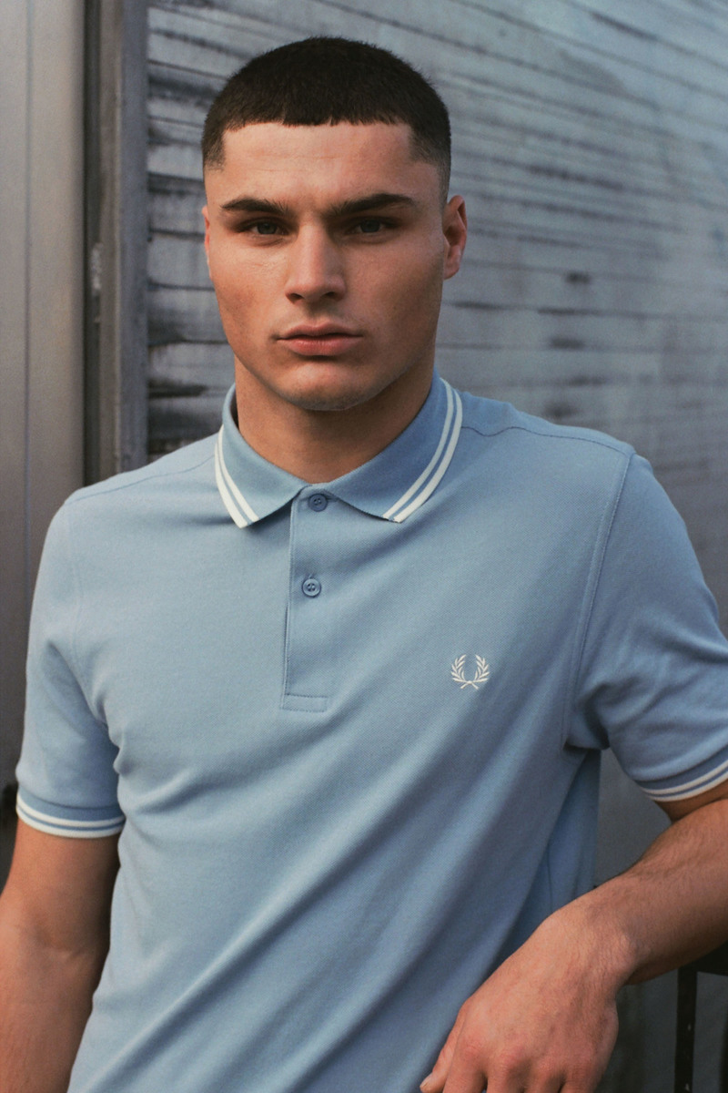 Fred Perry Polo Lichtblauw L15 foto 4