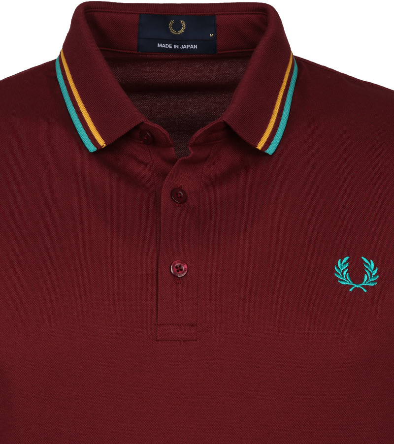 Fred Perry Polo M102 Bordeaux Rood foto 1