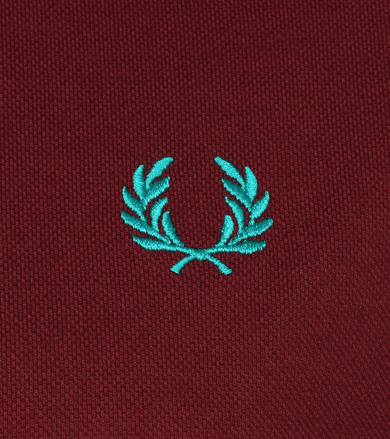 Fred Perry Polo M102 Bordeaux Rood foto 2