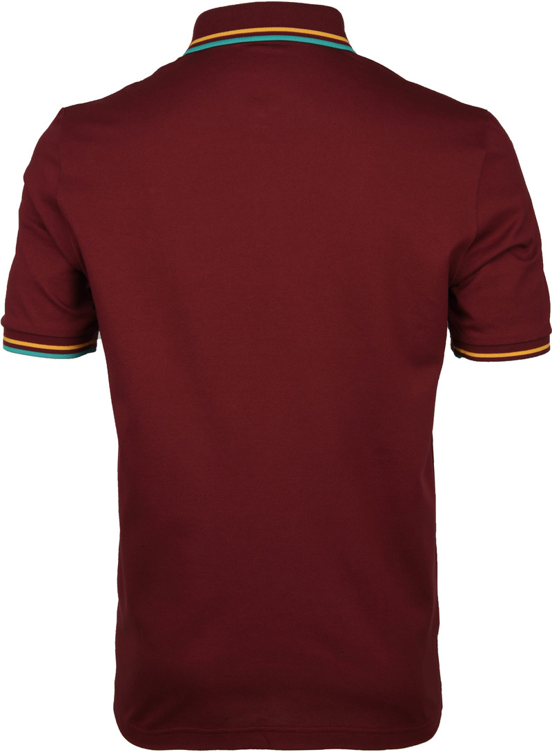 Fred Perry Polo M102 Bordeaux Rood foto 3