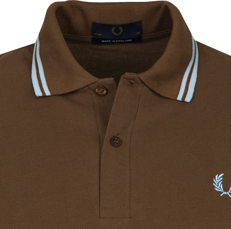 Fred Perry Polo M12 Bruin foto 1