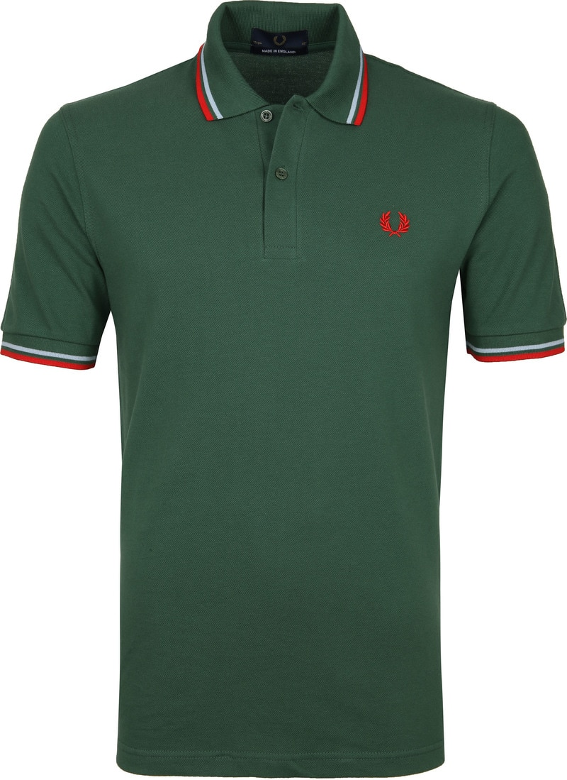 Fred Perry Polo M12 Donkergroen foto 0