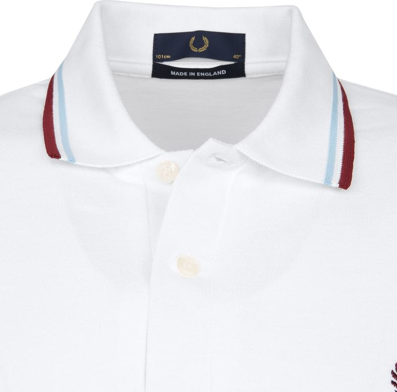 Fred Perry Polo M12 Wit foto 1