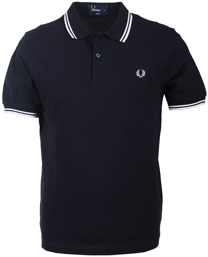 Detail Fred Perry Polo Navy White