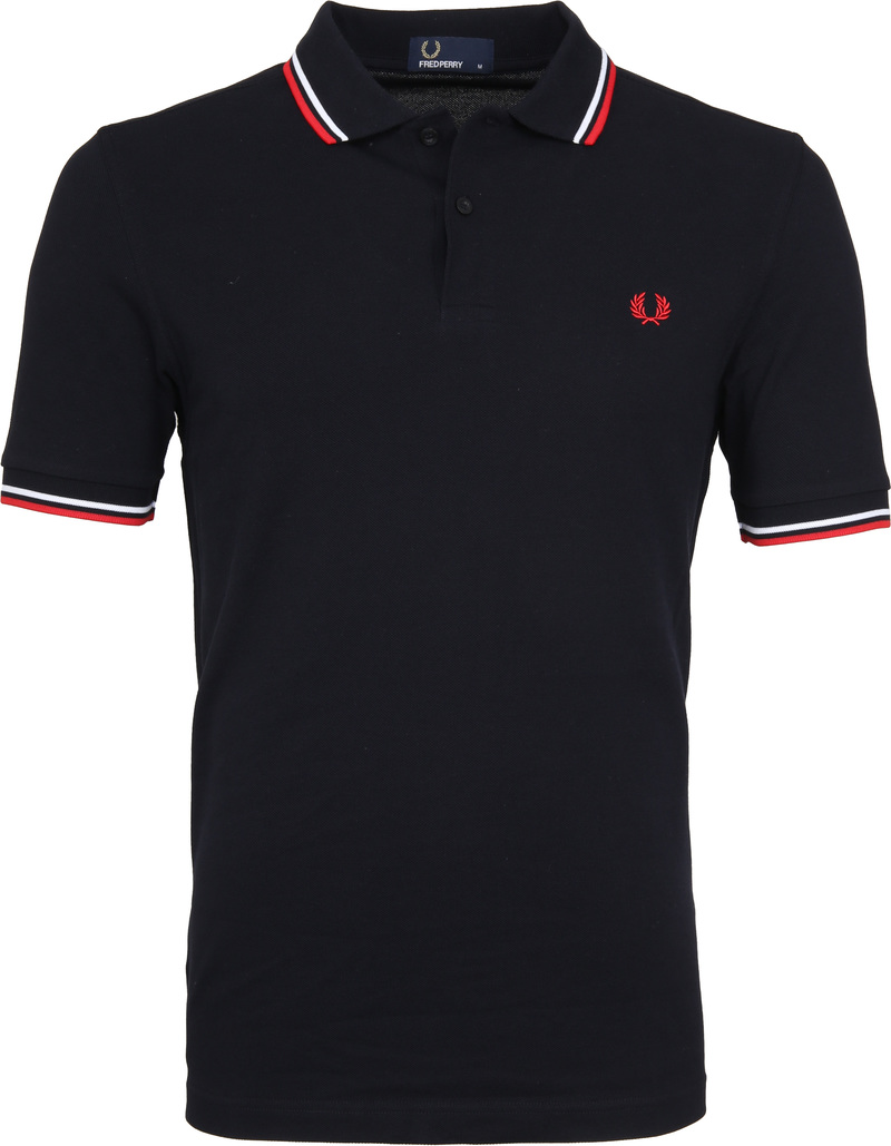 Fred Perry Polo Navy White Red foto 0