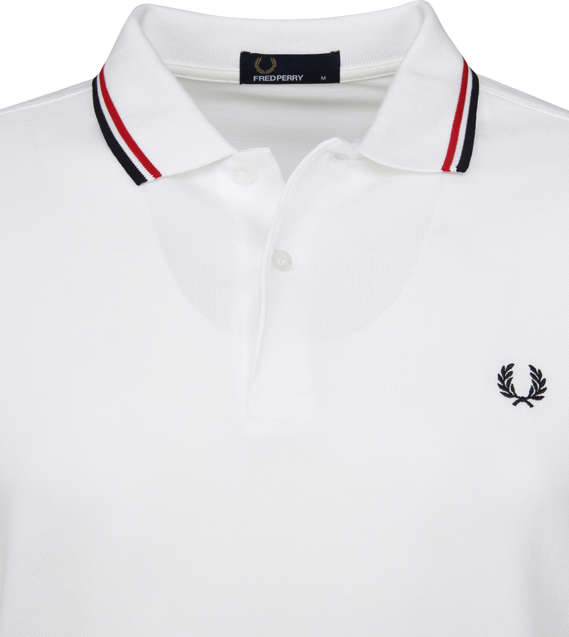 Fred Perry Polo Wit 748 foto 2