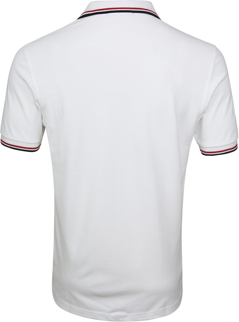 Fred Perry Polo Wit 748 foto 3