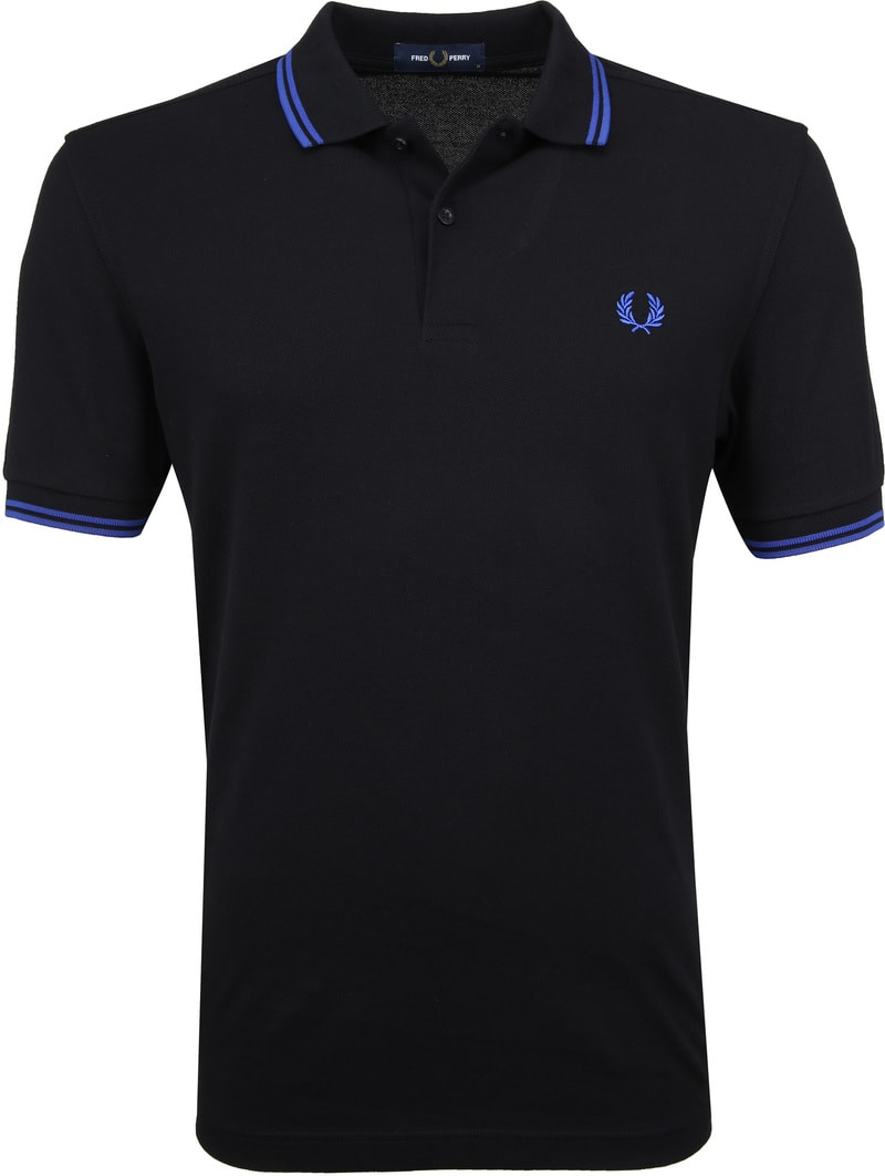 Fred Perry Polo Zwart foto 0