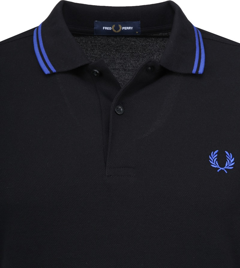 Fred Perry Polo Zwart foto 1