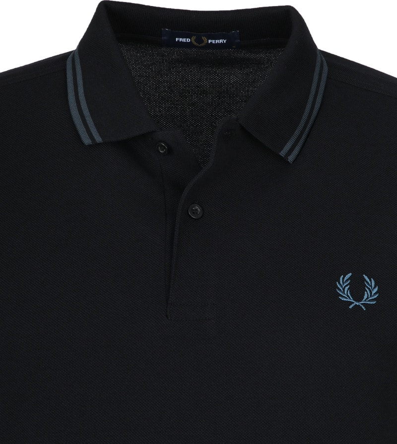 Fred Perry Polo Zwart L55 foto 1