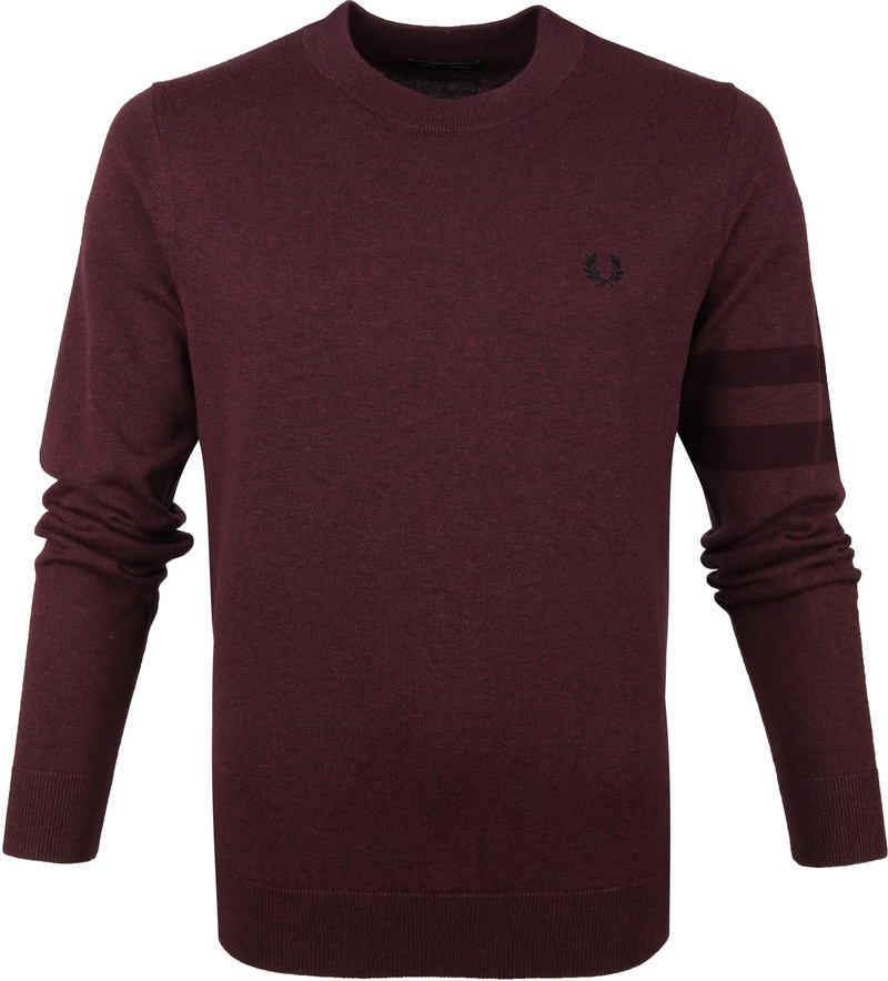 Fred Perry Pull Merino Bordeaux photo 0