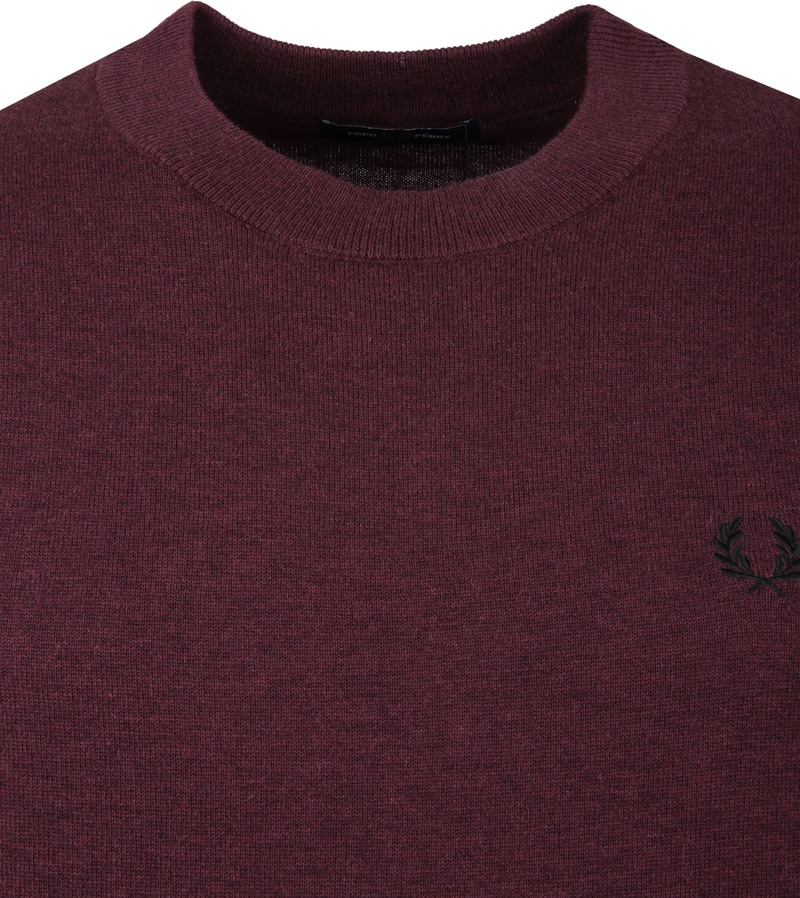 Fred Perry Pull Merino Bordeaux photo 1