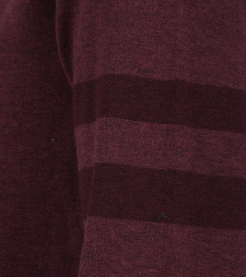 Fred Perry Pull Merino Bordeaux photo 2