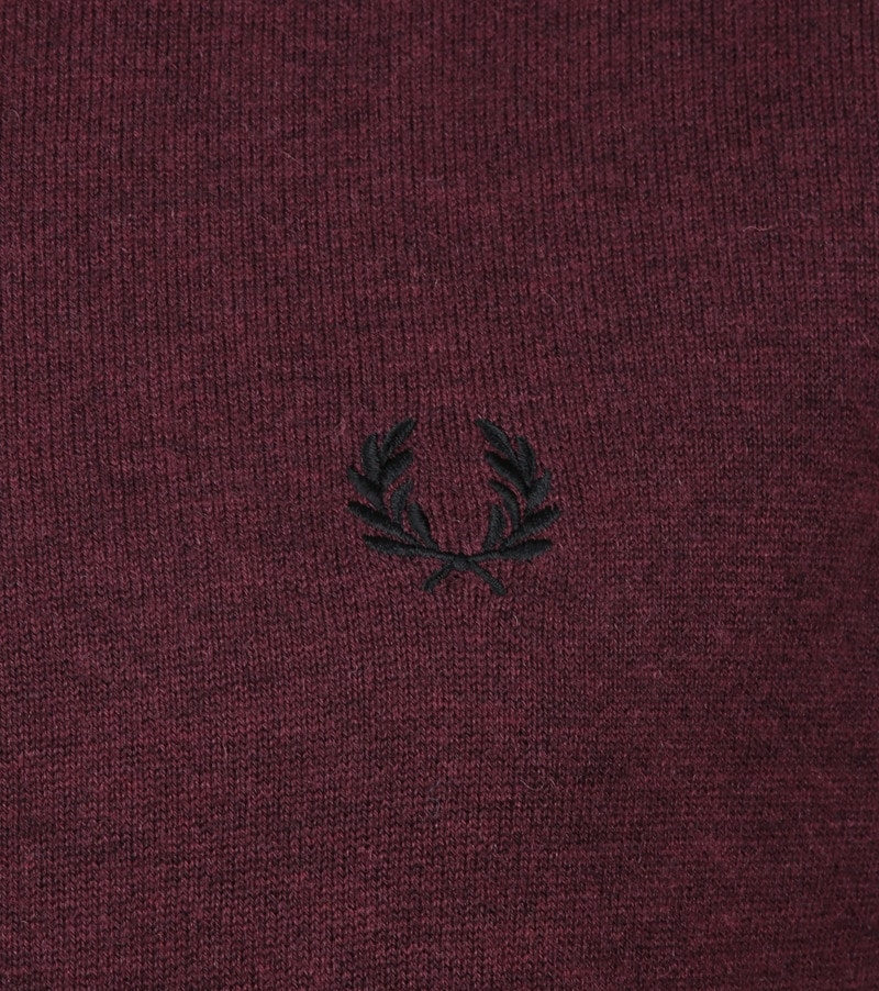 Fred Perry Pull Merino Bordeaux photo 3
