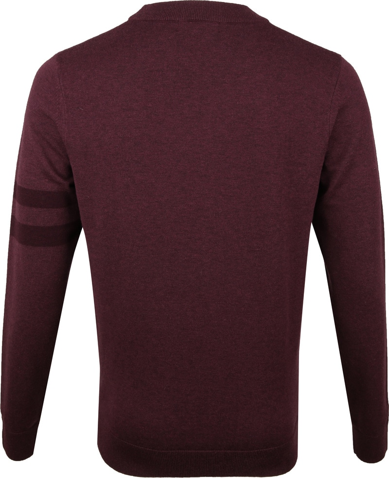 Fred Perry Pull Merino Bordeaux photo 4