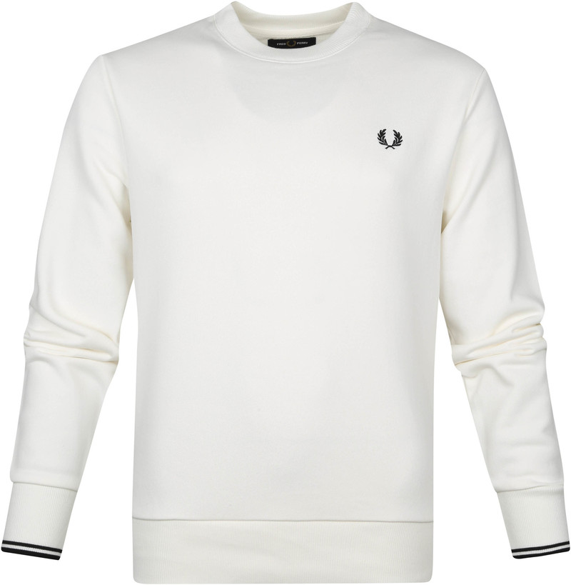 Fred Perry Sweater Logo M7535 Wit
