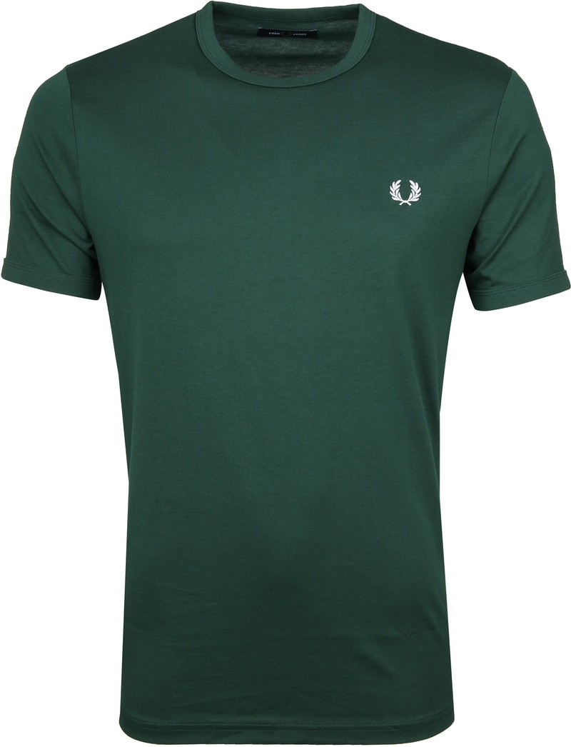Fred Perry T-shirt Donkergroen foto 0