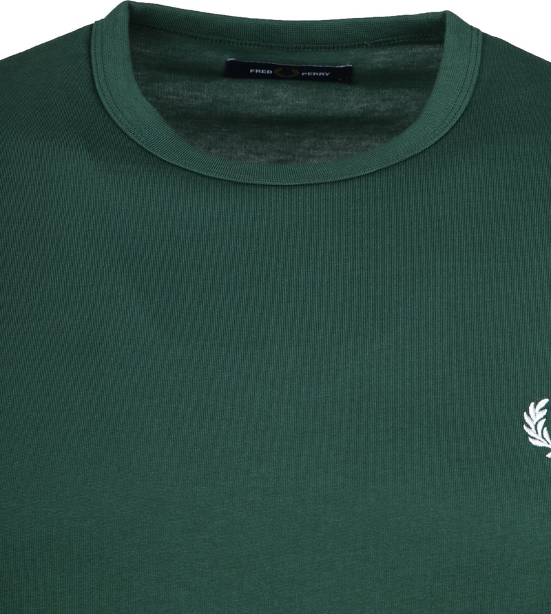 Fred Perry T-shirt Donkergroen foto 1