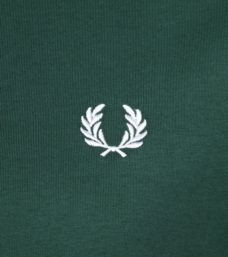 Fred Perry T-shirt Donkergroen foto 2