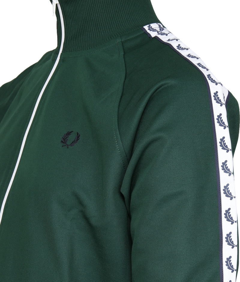 Fred Perry Taped Track Ivy Jacket Groen foto 3