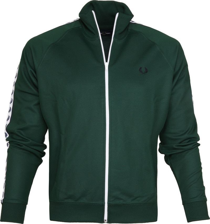 Fred Perry Taped Track Ivy Jacket Groen foto 0