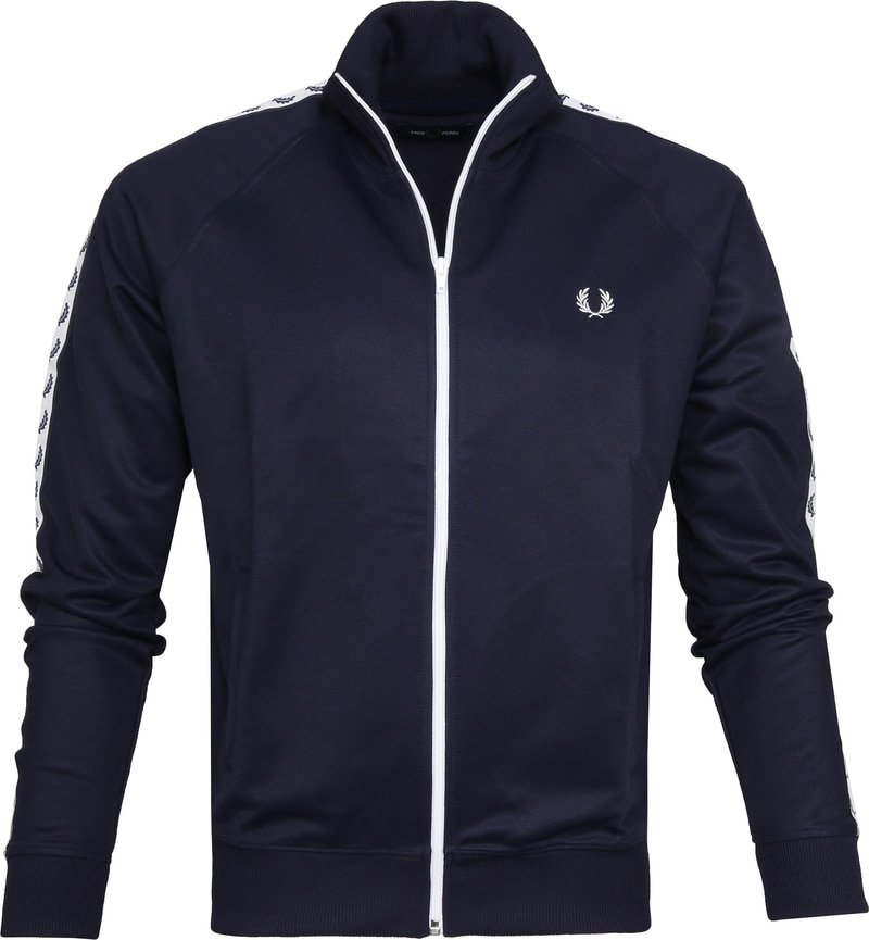 Fred Perry Taped Track Jacket Dark Blue photo 0