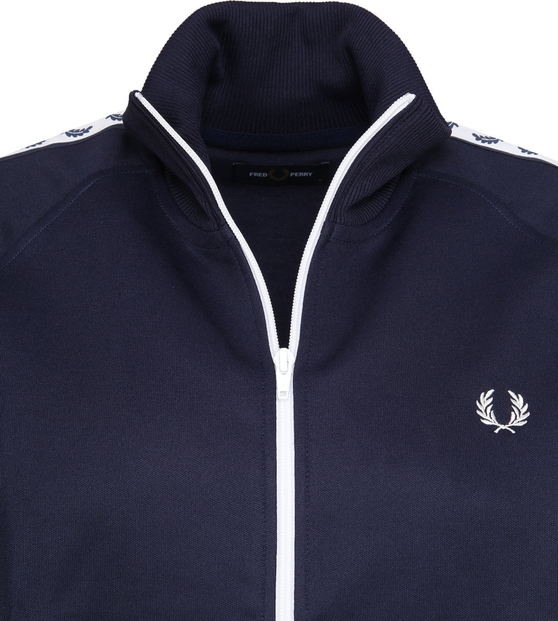 Fred Perry Taped Track Jacket Donkerblauw foto 1