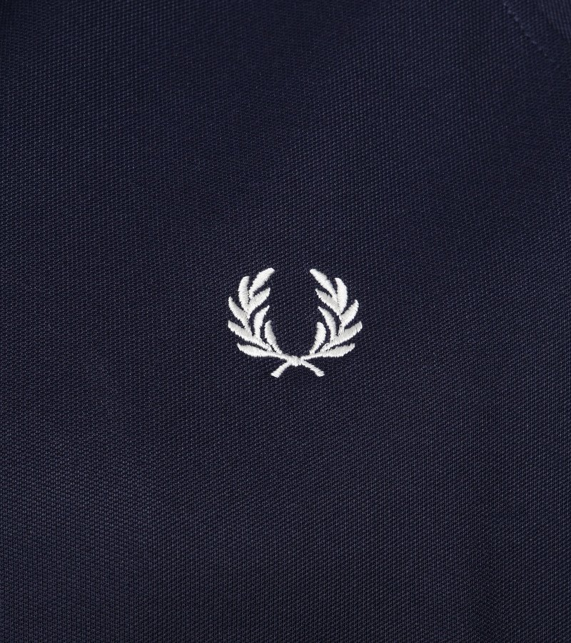 Fred Perry Taped Track Jacket Donkerblauw foto 2