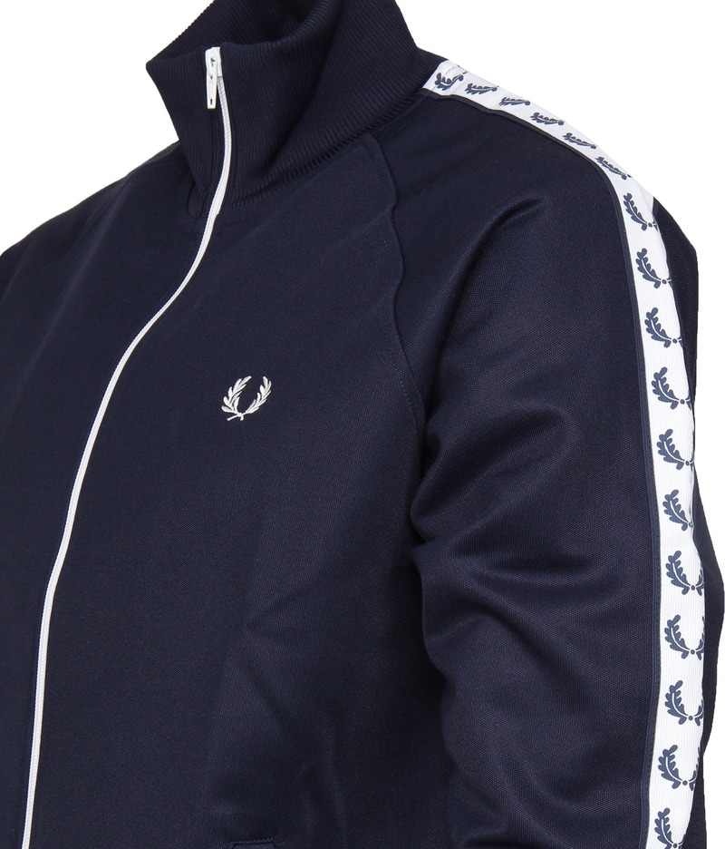 Fred Perry Taped Track Jacket Donkerblauw foto 3