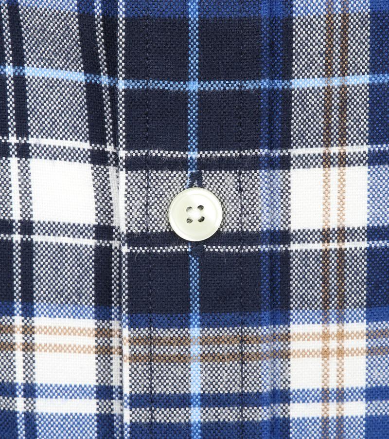 Gant Casual Overhemd Geblokt Blauw foto 2