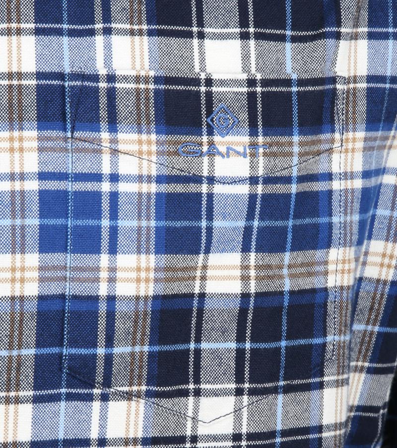 Gant Casual Overhemd Geblokt Blauw foto 3