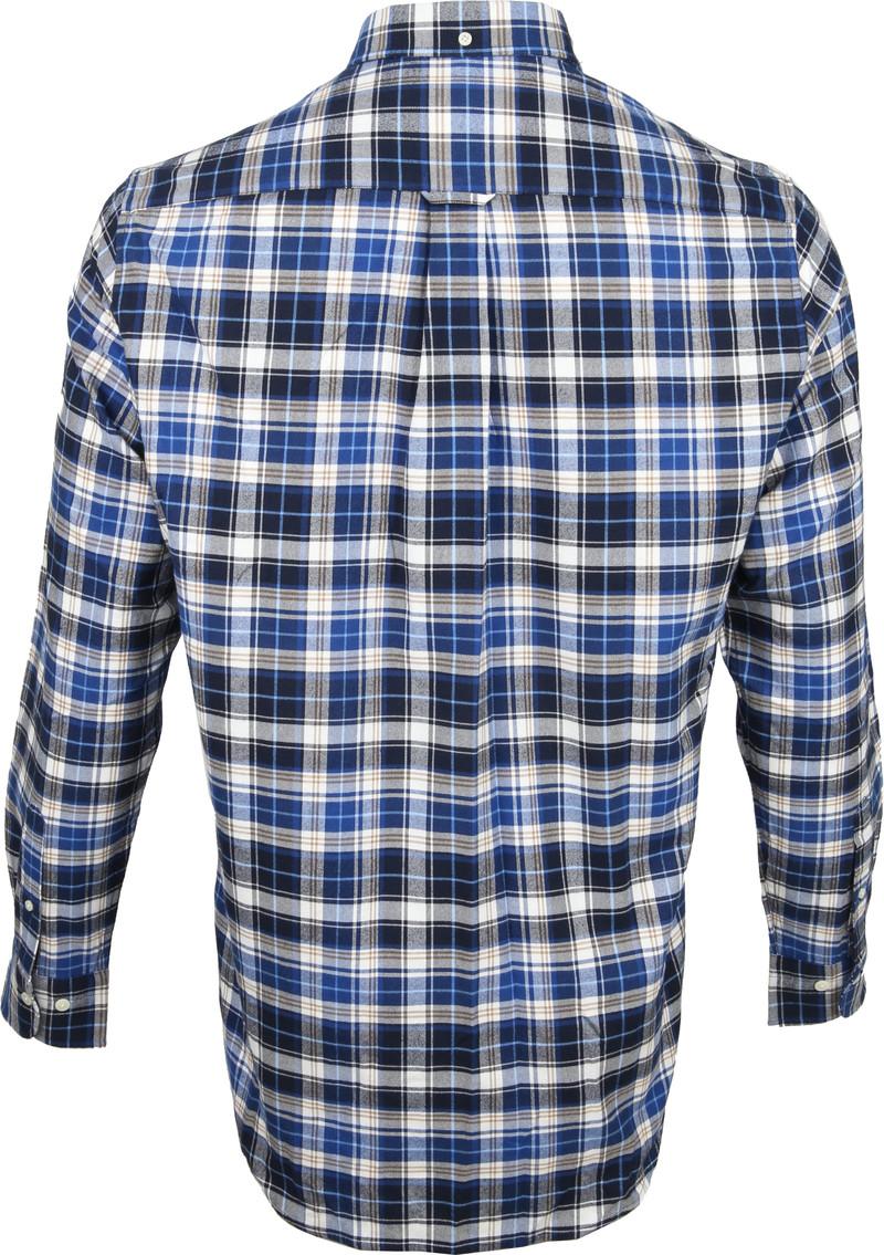 Gant Casual Overhemd Geblokt Blauw foto 4