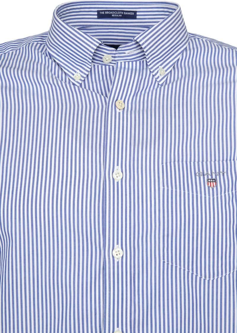 Gant Casual Overhemd Strepen Blauw