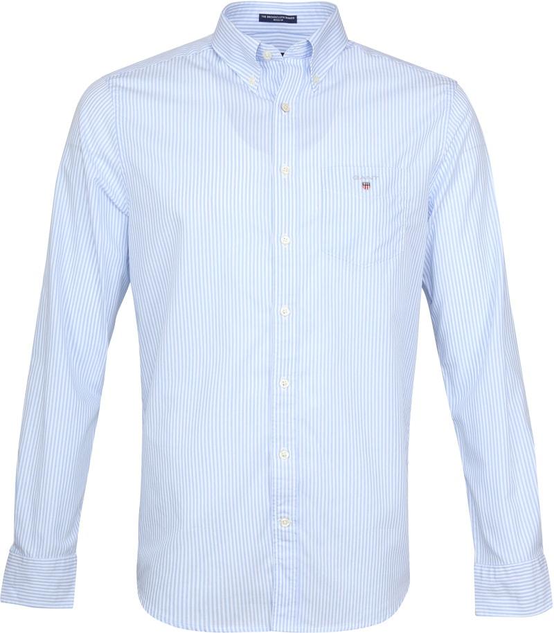 Gant Casual Overhemd Strepen Lichtblauw foto 0