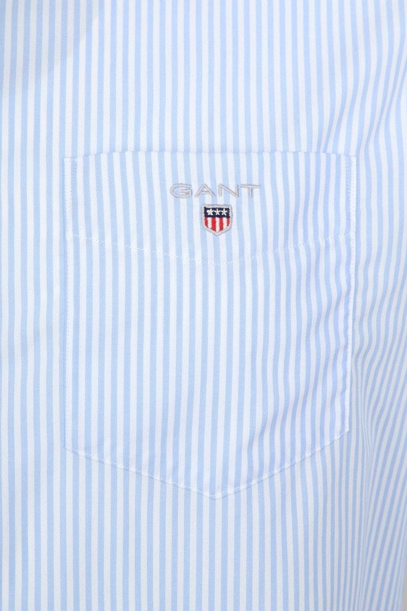 Gant Casual Overhemd Strepen Lichtblauw foto 2