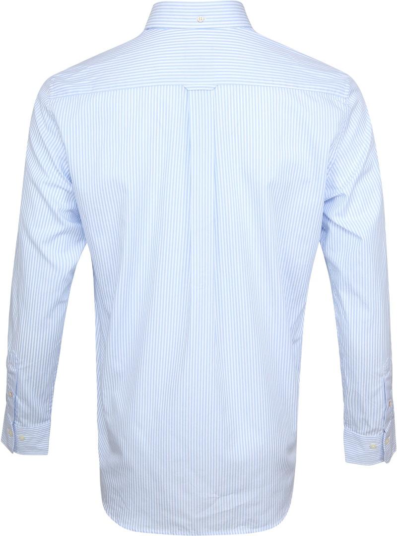 Gant Casual Overhemd Strepen Lichtblauw foto 3