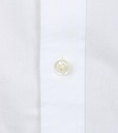 Detail Gant Casual Overhemd Uni Wit