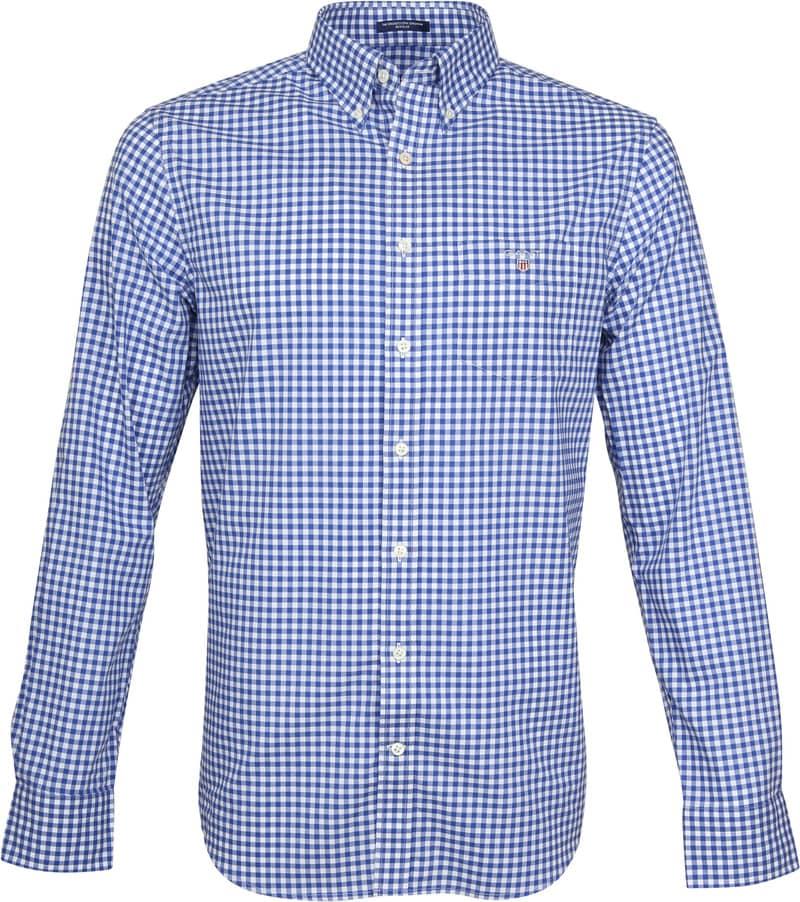 Gant Gingham Overhemd Blauw Ruit foto 0