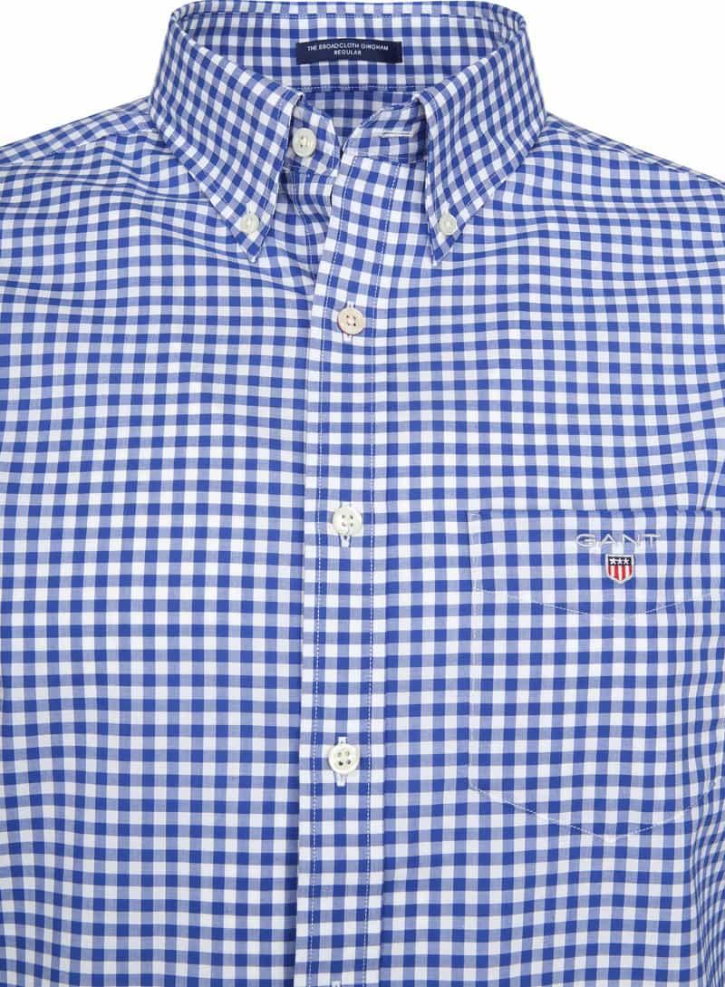 Gant Gingham Overhemd Blauw Ruit foto 1