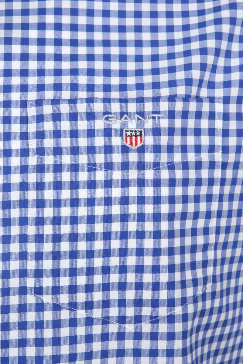 Gant Gingham Overhemd Blauw Ruit foto 2